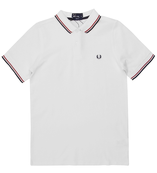белая рубашка поло fred perry